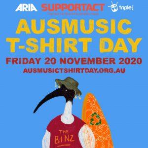 Artwork for Ausmusic T-Shirt Day